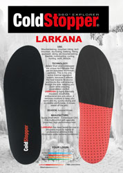 Insole with EVA heel support