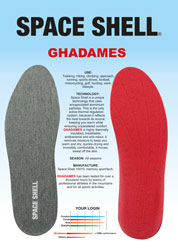 Insole with EVA heel support and technical textile